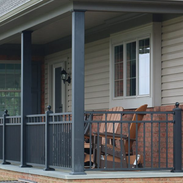 Aluminum Railing around Porch