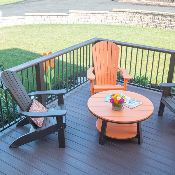Wooden Deck with Railing