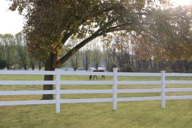 Vinyl rail fence post & rail farm fence horse fencing