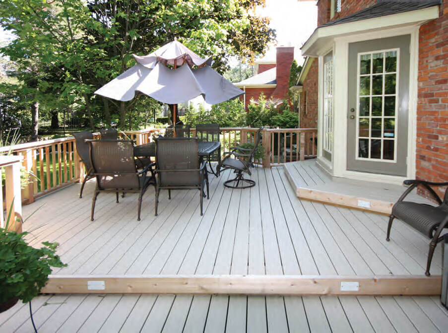 Vinyl decking backyard deck flooring materials pvc for Vinyl decking materials