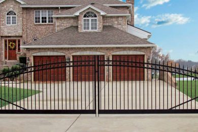 Black Aluminum Driveway Gate by GreenWay