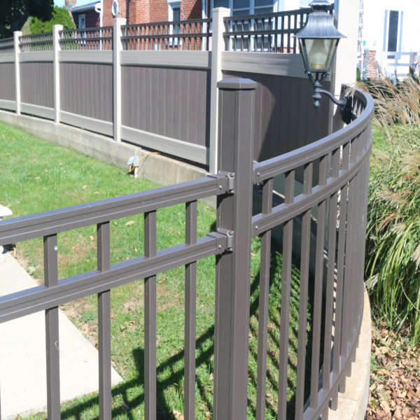 Brown Aluminum Backyard Regis Fencing Products