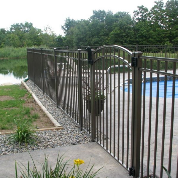 Black Aluminum Regis Gated Fence