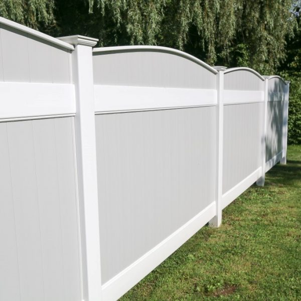 Gray Vinyl Custom Fence