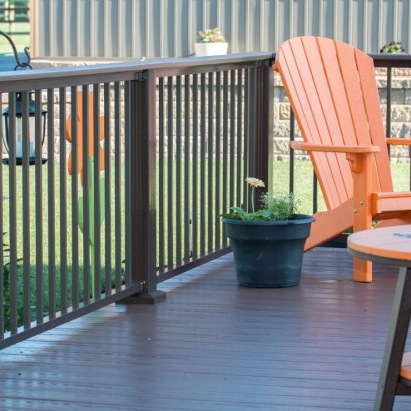 Westbury Tuscany Brown Aluminum Deck Railings
