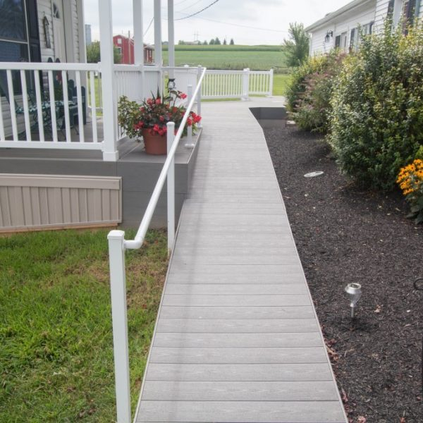 Westbury Liberty White Aluminum Outdoor Walkway Handrail