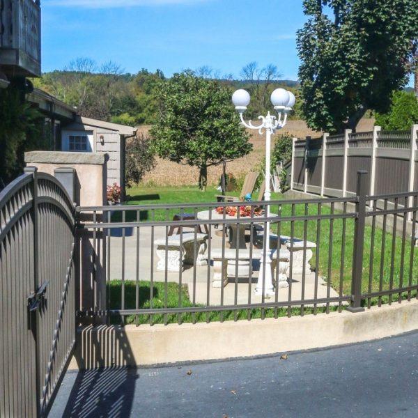 Black Aluminum Regis Driveway Fence with Gate