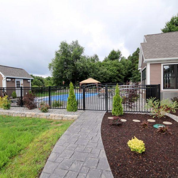 Regis Black Aluminum Residential Fence