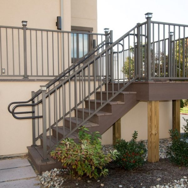 Westbury Liberty Brown Aluminum Handrail for Stairs