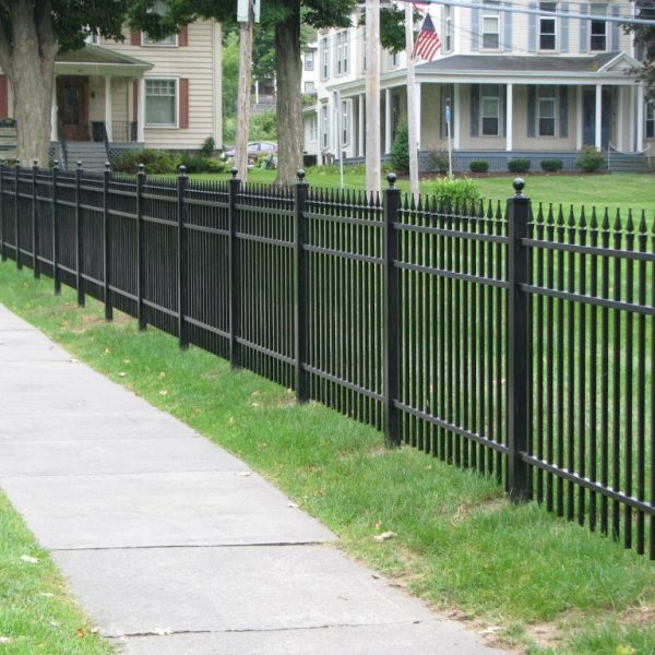 Brown Aluminum Regis Spiked Fencing