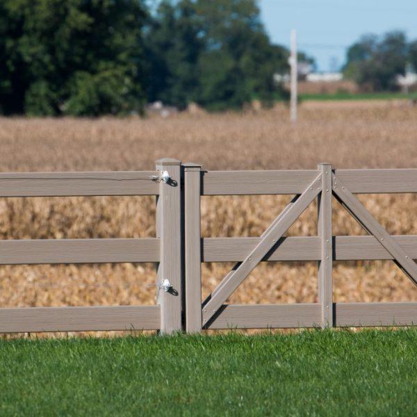 Vinyl Rail Horse Fence