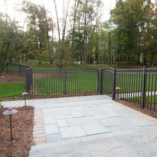 Regis Brown Aluminum Backyard Fence