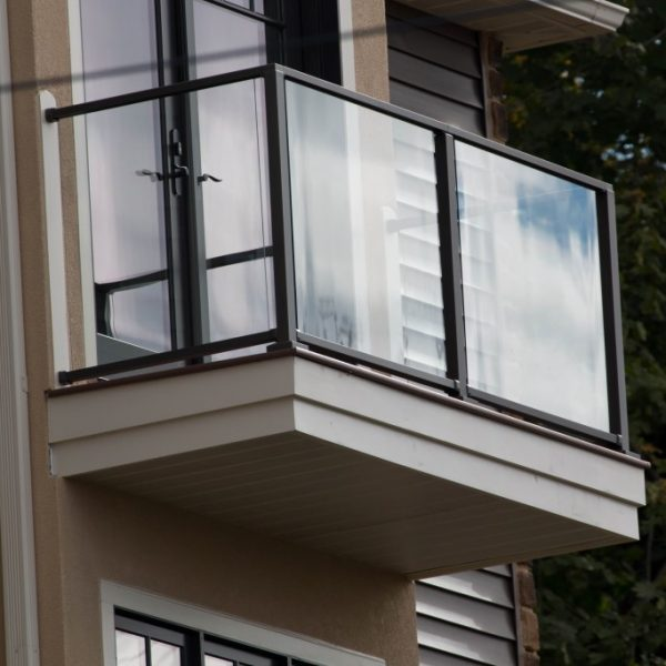 Balcony With Black Aluminum Railing
