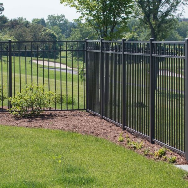 Brown Aluminum Regis Yard Fencing