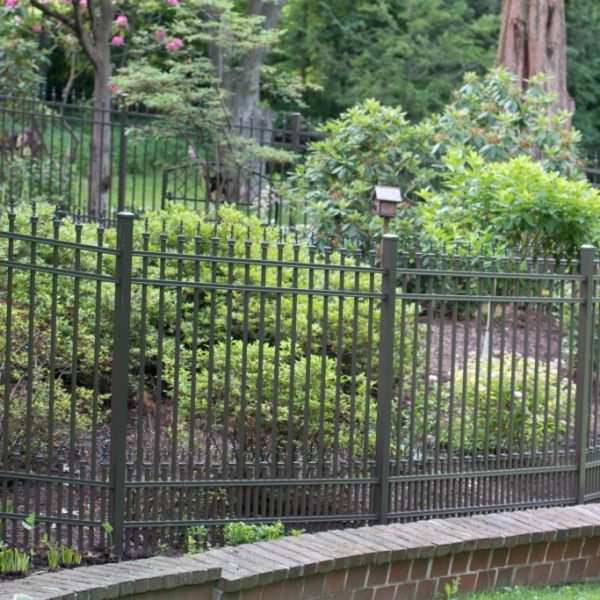 Regis Aluminum Brown Fencing for Enclosed Backyard