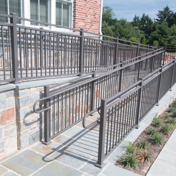 Westbury Liberty Brown Aluminum Handrail for Ramp