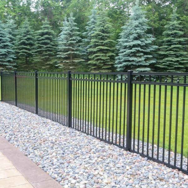 Regis Black Aluminum Backyard Fence