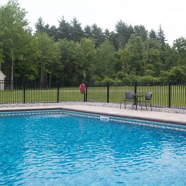 Regis Black Aluminum Pool Fencing