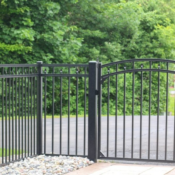 Regis Black Aluminum Fence with Gate