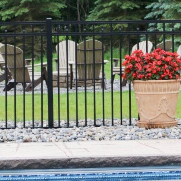 Regis Black Aluminum Fence