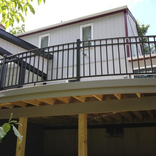 Black Westbury Aluminum Railing on Deck