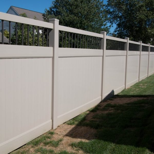 Tan Fulton Privacy Alum Spindle Top Fencing