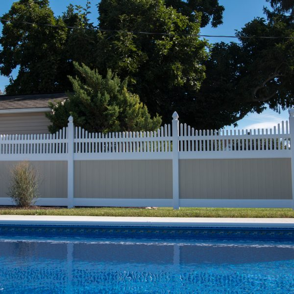 Fulton Privacy Franklin Step Top Fence for Pool