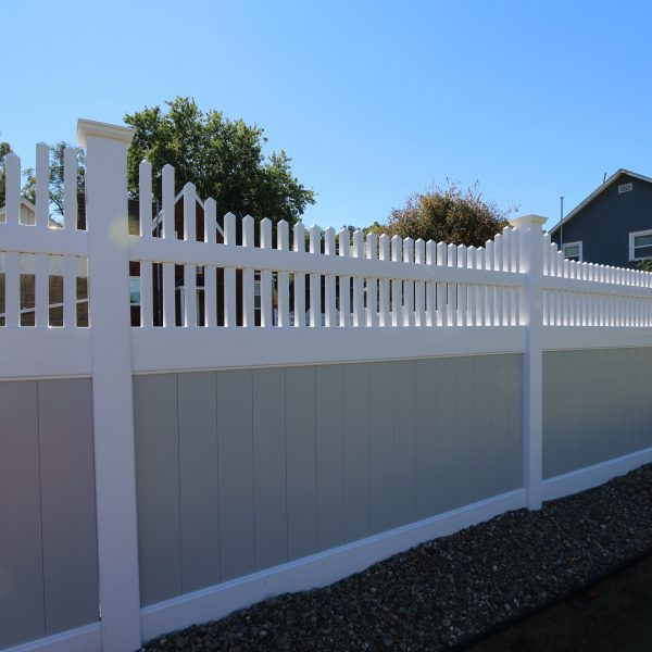 Gray Fulton Privacy Fence With Franklin Step Top