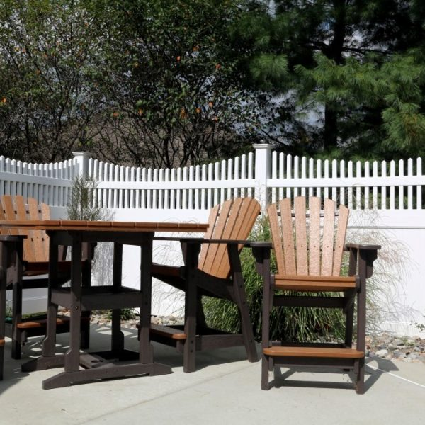 Vinyl Fence with Franklin Concave Top in White