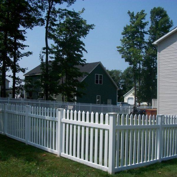 Vinyl Herkimer Straight Top Fencing in White