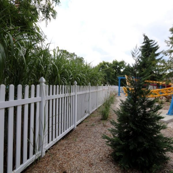 White Herkimer Straight Top Fence