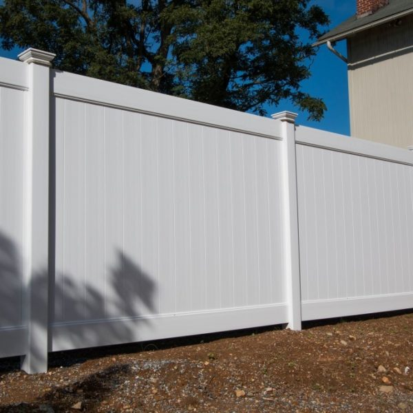 White Fulton Privacy Fence in Standard Height