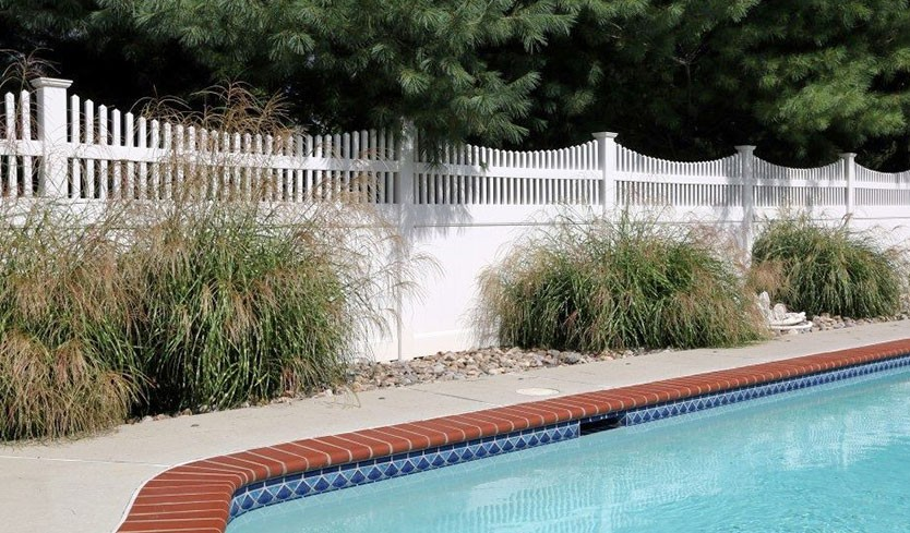 decorative full coverage pool fence styles