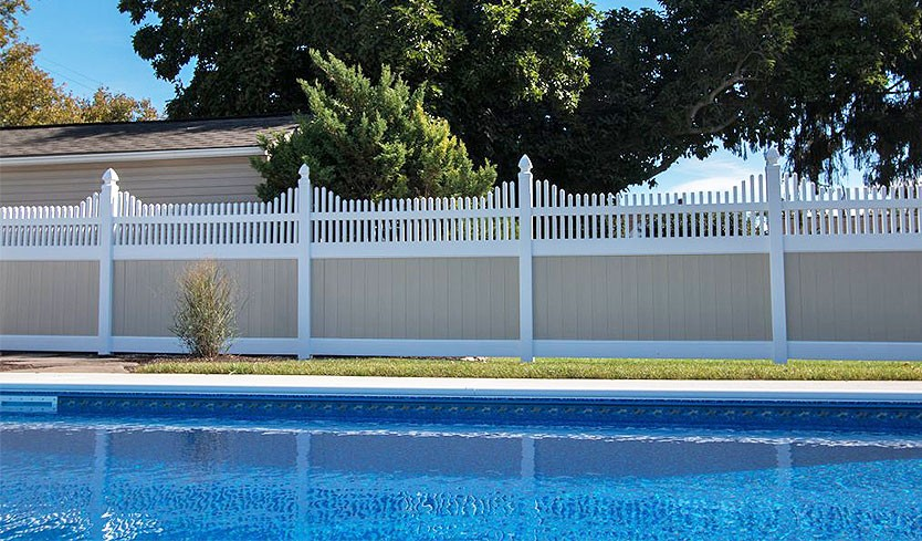 decorative pool fence options