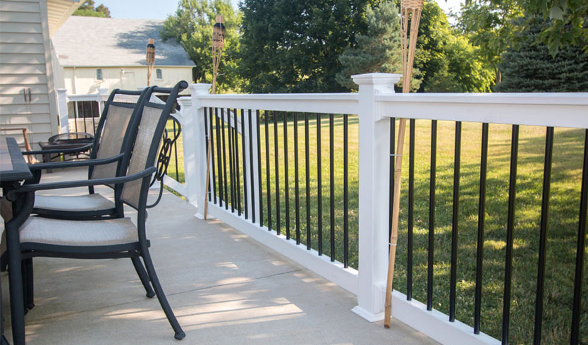 how to install deck railing