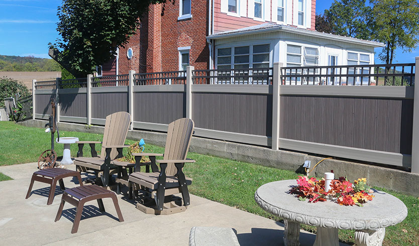 modern custom top aluminum vinyl fence