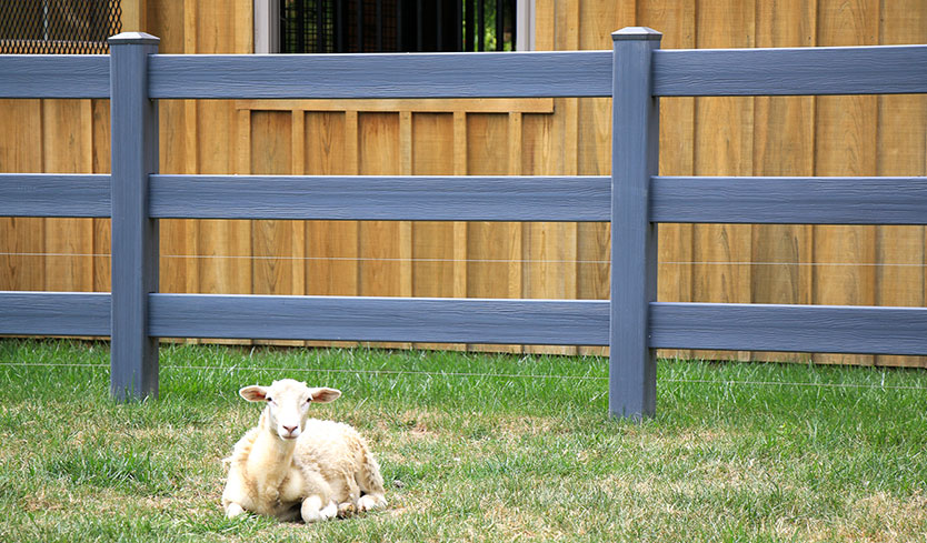 split rail vinyl fence