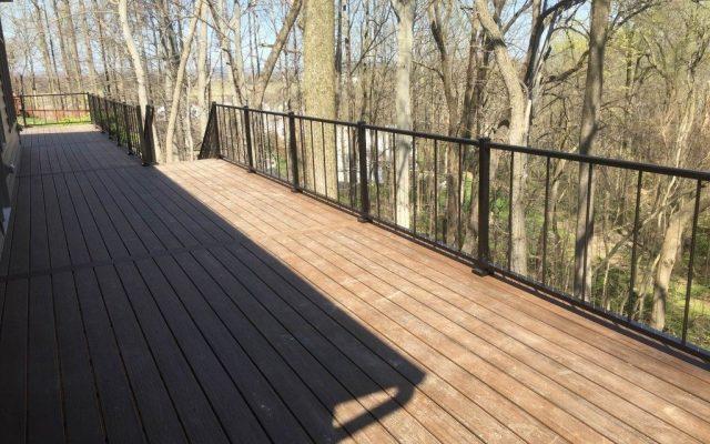 Black Westbury vertical aluminum railing