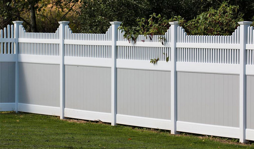 dog proof fence with bottom half privacy panel