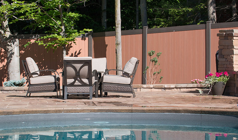 two-toned designer privacy fence