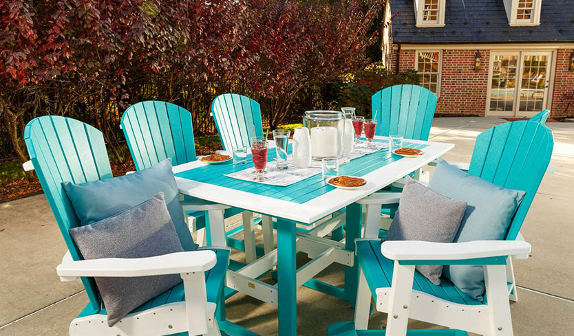 high-backed furniture for backyard privacy