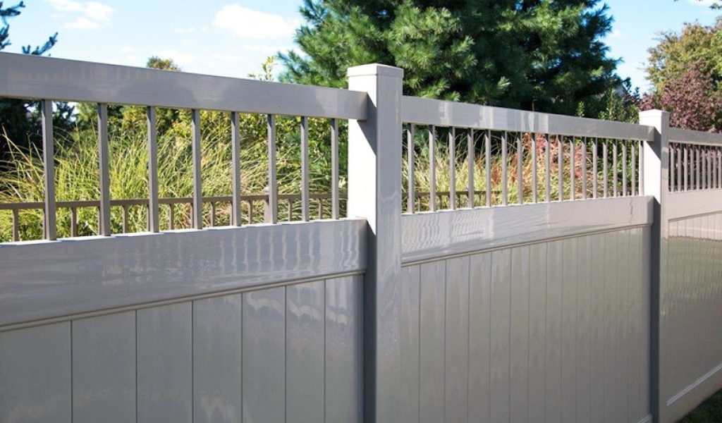 low maintenance aluminum accented privacy fence option
