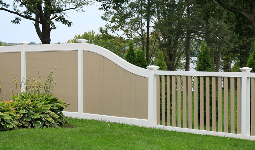 fence color ideas for house with white siding