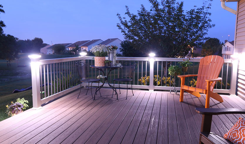 diy deck upgrade with built-in lighting