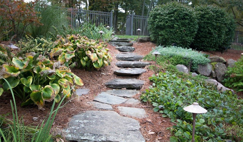 stone path diy yard upgrade