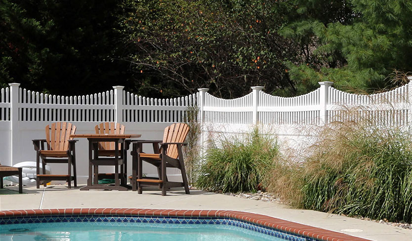 attractive fulton privacy fence with franklin concave top