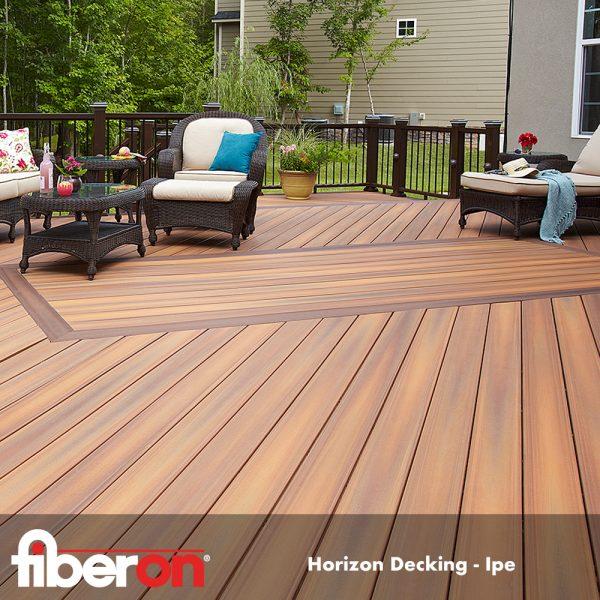 A beautiful rustic wood color for a Fiberon composite deck