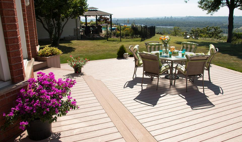 vinyl decking material cost