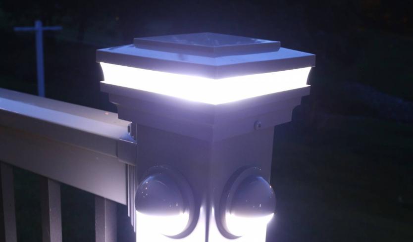 exterior lighting with post cap lights