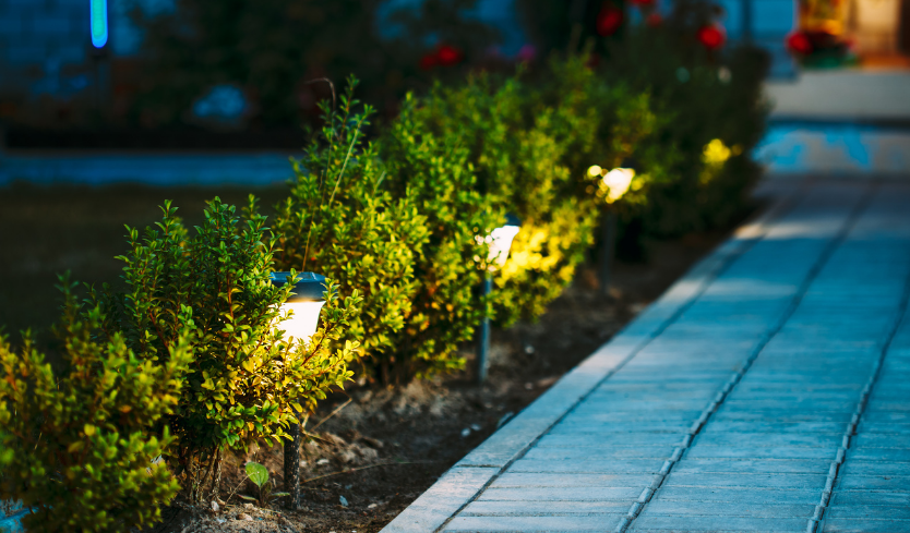 landscaping lights for patio walkway